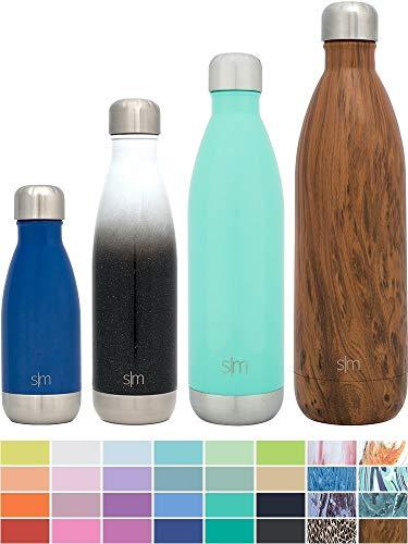 Simple Modern 1000mL Wave Bottiglia D'acqua - Isolamento Sottovuoto 18/8 Acciaio Inossidabile - Bottiglia Termica Portatile Hydro Bocca Stretta Swell Tazza da Viaggio Flask - Pacifico Blu