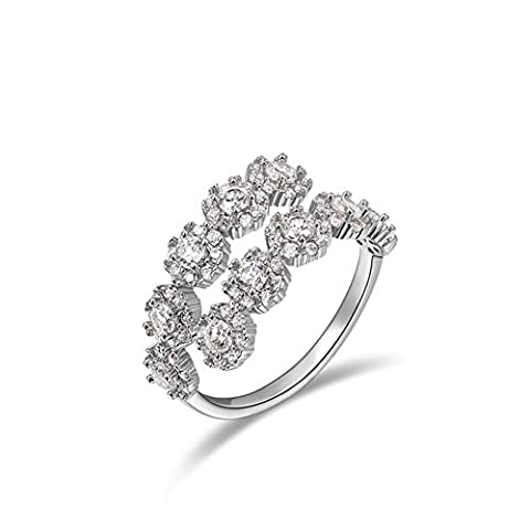 ROXI Women's Adjustable Size Rings White Gold Plated Resizable Austrian Crystals Tennis Fashion Alloy Ring