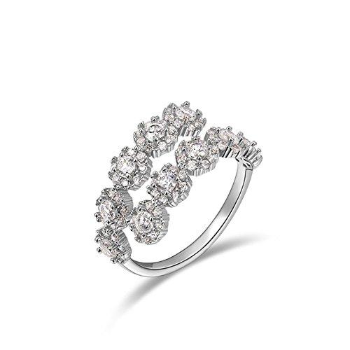 Roxi da donna, taglia regolabile anelli placcati platino Resizable cristalli austriaci tennis Fashion lega anello