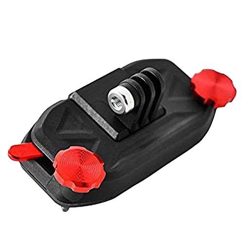 Cuitan GoPro Cámara Montaje Correa de Mochila Hebilla Adaptador Liberación Rápida Buckle Clip para SLR Cámara Gopro Hero 3 3+ 4 Session Hero 5 Session - Rojo