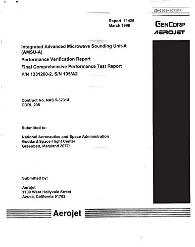 Integrated Advanced Microwave Sounding Unit-A (AMSU-A). Performance Verification Report: Final Comprehensive Performance Test Report, P/N 1331200-2, S/N 105/A2 (English Edition)