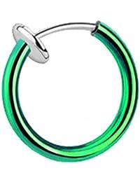 Taffstyle® Septum Nasenpiercing Klemmring Fake Ring Sping Piercing Helix Ohr Nasenring