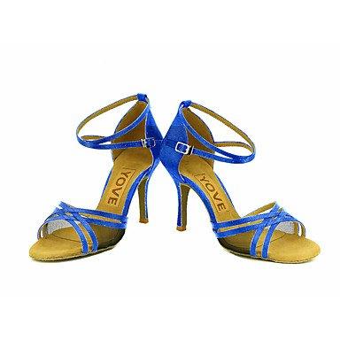 Zapatos De Baile-personalizables-womens-latin-american Dancing / Custom-heel-satin-satin-black / Blue / Yellow / Pink / Purple / Red Pink