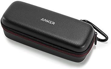 Anker SoundCore & SoundCore 2 Tragetasche Box Kunstleder Case, Premium Bluetooth Lautsprecher Speaker Schutztasche, Hülle Cover (Schwarz)