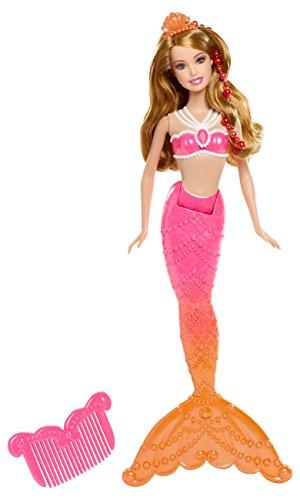 - Die magischen Perlen Meerjungfrau, Puppe zum Film mit Farbwechsel, rot ()