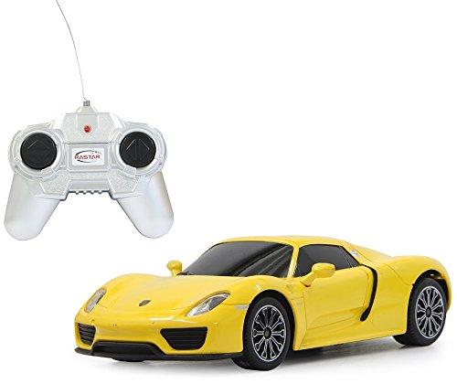 BUSDUGA RC Porsche 918 Spyder - ferngesteuert - inkl. Fernbedienung - RTR - Wählbar.: Maßstab,Farbe oder Rennedition (1:24 - gelb)