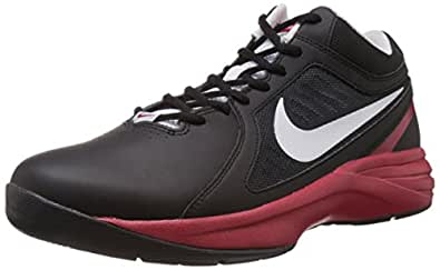 Nike Men's The Overplay VIII Black,Pure Platinum,Gym Red  Basketball Shoes -12 UK/India (47.5 EU)(13 US)