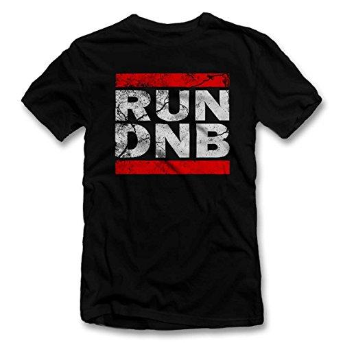 Run Dnb Vintage T-Shirt schwarz-Black L