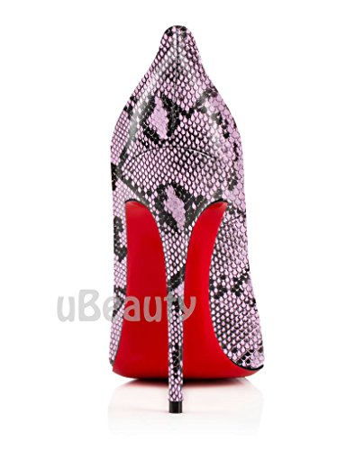uBeauty - Escarpins Femmes - Chaussures Stilettos - Talon Aiguille - Grande Taille - Serpentine talons hauts sexy Serpentin B