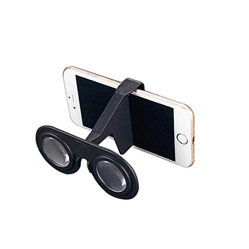 Ouken Mini Virtual Reality Gläser Falten 3D-Brille VR für Smartphone (schwarz) 1pc