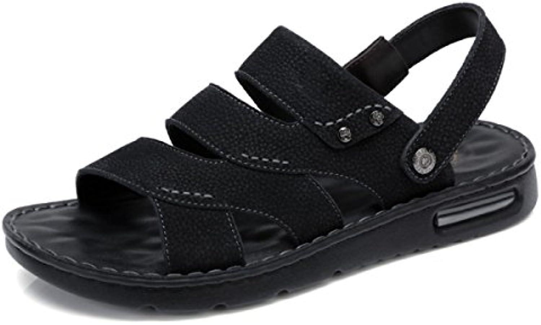 GRRONG Herrenschuhe Für Den Sommer Trend New Fashion Business Sandalen Casual Zwei Möglichkeiten Strand Flip Flop