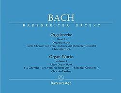 Orgelwerke, Band 1 -Orgelbüchleinsechs Choräle Von Verschiedener Art (Schübler-choräle)choralpartiten. Johann Sebastian Bach. Orgelwerke 1 | Spielpartitur(en), Sammelband, Urtextausgabe