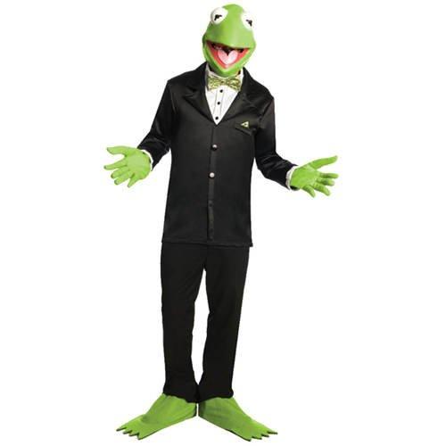 Erwachsene Kostüm Frosch Kermit Der (Kostüm-Set Kermit 3tlg Maske, Handschuhe &)