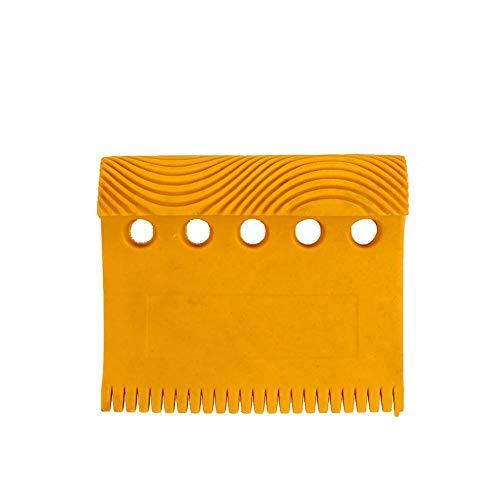 Gereton Holzmaserung Werkzeug Handheld Gummi Körnung Muster Stempel für Wandmalerei Dekoration gelb