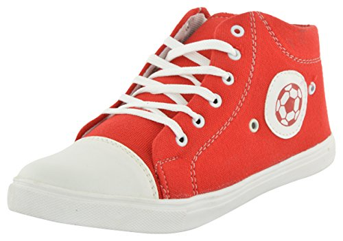 Primo Cleats Men's Red Canvas Low-T0p Sneakers - 8 UK