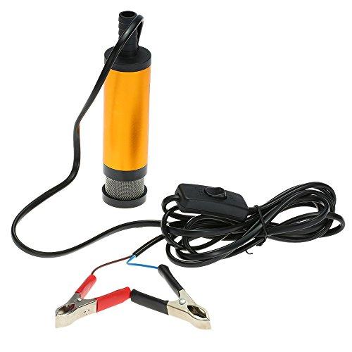 KKmoon Diesel Kraftstoff Wasser Pumpe 12V Transfer Ölpumpe für Auto Wohnwagen Marine Boot (Transfer Pumpe Batterie)