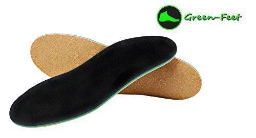 Preisvergleich Produktbild Orthopädische Schuh-Einlage für Normal-Füße und Senkfuß mit Spreiz-Fuß-Stütze und Dämpfungs-Polster, Hand-Made in Germany von Green-Feet (Schuh-Größe: 39-40, neutral Arch = normales Gewölbe)