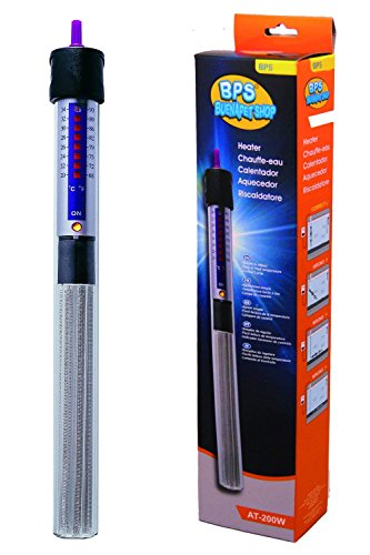BPS (R) Calentador Sumergible para Pecera 50W - 22.3cm para Acuario Tanque de Pescados BPS-6051