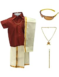 Amirtha Fashion Boys Traditional Dhoti & Shirt Set(AMFCMMD)
