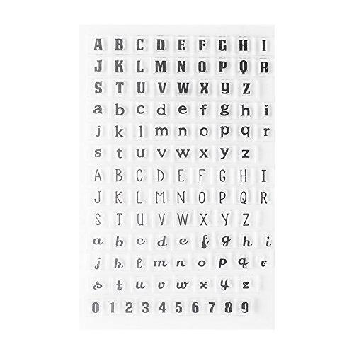 Timbro in Silicone Trasparente Timbro Numeri Lettere Alfabeto PVC Planner Timbro Set Bambino Adulto DIY Craft Scrapbooking Carta Making Diario Album Decorazione