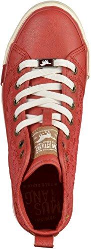 Mustang 1146-507-5, Sneakers Hautes Femme Rouge