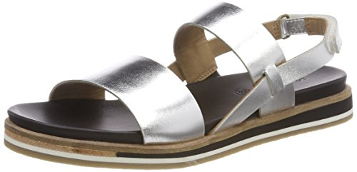 Kickers Womens Olivera Ankle Strap Sandals, Silver (Silver), 5 UK