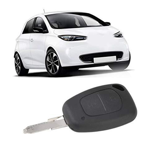 Nouveau 2 Bouton à Distance de clé de Voiture Couverture FOB Shell pour Opel Vivaro Movano Renault Traffic Kangoo pour Nissan Livraison Gratuite (Noir)
