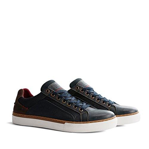 NoGRZ P.Johnson Herren Leder Sneakers | Blau EU 43 Johnson Leder