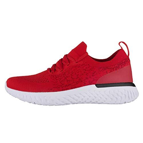 SHE.White Herren Atmungsaktive Casual Sneakers Mode Einfarbig Leichte Turnschuhe Sportliche Tennis Laufschuhe