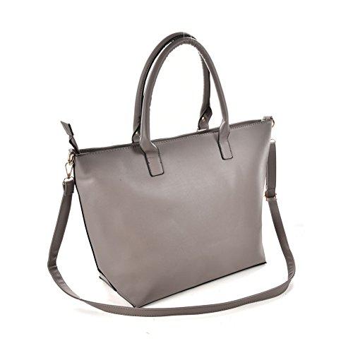 Premium Leather, Borsa a mano donna L Grey
