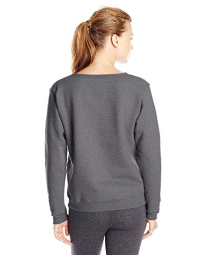 YouPue Femme Pullover Pull-over Rond Col Manches Longues Pullovers Tricot Sweatshirt Blouse Chemisier Casual Taille S-XL Gris Foncé