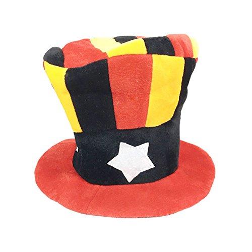 own Hut Maskerade Kostüm Hut für Bühnenshow Party Requisiten (Fünf-Punkte-Star) (Star Clown Hut)
