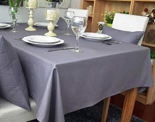 DOTBUY Rechteckige Tischdecke, Europäischer Stil Rechteckig Abwaschbar Faser Baumwolle Tischdecke Pflegeleicht Garten (100 * 140, Grau)