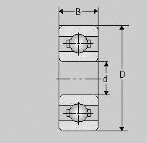 Preisvergleich Produktbild Miniatur Kugellager MR125 ZZ, 5x12x4, MR 125 ZZ