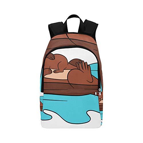 EIN niedlicher Seeotter schwimmt auf Wasser lässig Daypack Reisetasche College School Rucksack für Herren und Frauen