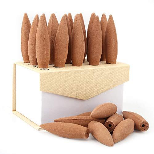 Coni di incenso, coni di incenso, emolliente di fumo da 30 minuti, per rimuovere gli odori, per decorare il soggiorno, diffusori di aromaterapia, ornamento per la casa