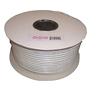 Aerials, Satellites and Cables Ltd RG6 50 m Digital Coax Cable for TV - White