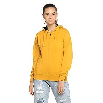 Alan Jones Clothing Full Sleeve Solid Women's Sweatshirt (WM17-SS01-MUSTARD-S_Small_Mustard)