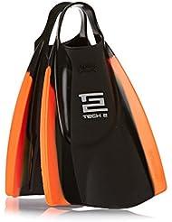 Hydro Tech 2 aletas de bodyboard - Negro/ - Naranja Talla:XL