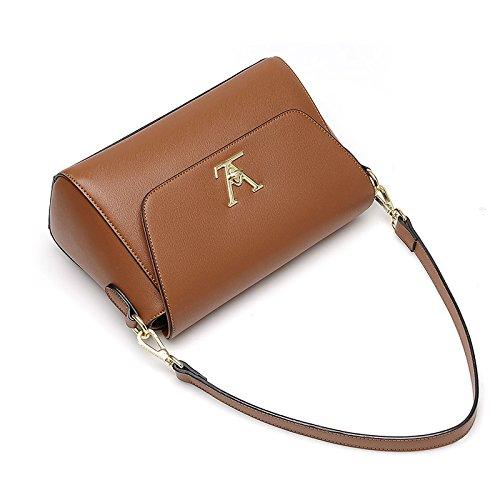 GUANGMING77 Air Bag Borsa A Tracolla Messenger Bag Piccola Borsa Di Bloccaggio Femmina Piccolo Pacchetto,Colore Caramello Caramel color
