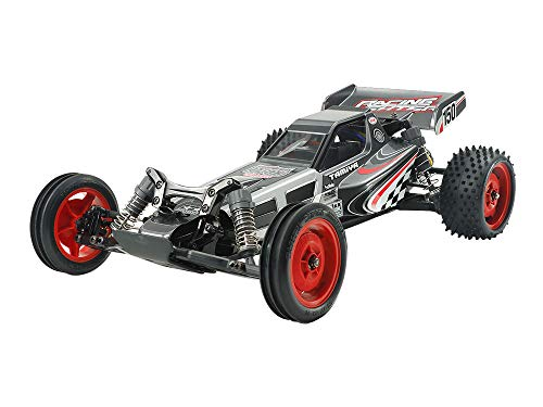 TAMIYA 84435 84435-1:10 RC Racing Fighter Black Edition DT-03, ferngesteuertes Auto/Fahrzeug, Modellbau, Bausatz, schwarz/grau -