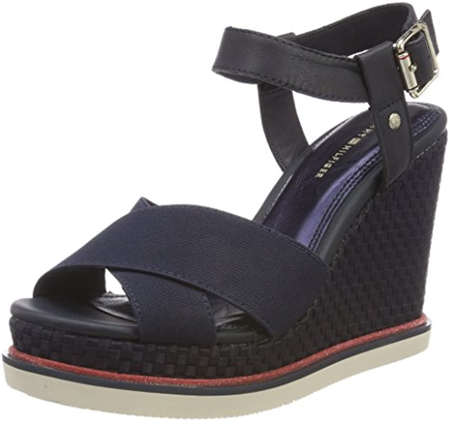Tommy Hilfiger Sporty Stretch Wedge Corporate, Espadrillas Donna | Nuovo Prodotto