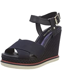 Tommy Hilfiger Sporty Stretch Wedge Corporate, Alpargata para Mujer