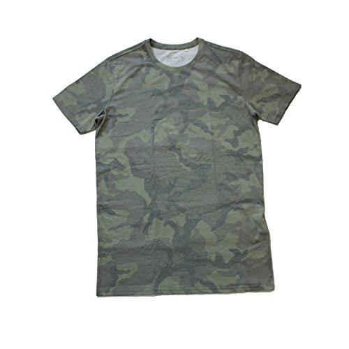 Tagless Rundhalsausschnitt T-shirt (Sula Nebouxii T-Shirt mit Rundhalsausschnitt, Tarnmuster, Herren, Army Camo, X-Large)