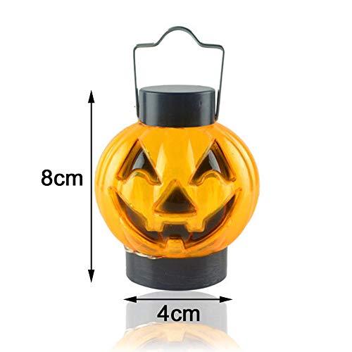 Winpavo Halloween-Deko Halloween Party Requisiten Lámpara De Luz De Calabaza De Halloween Decoración De Lámpara De Calabaza De Fiesta De Halloween 5Pcs
