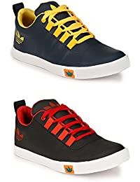 Lavista Men's Black And Blue Sneaker Casual Shoe