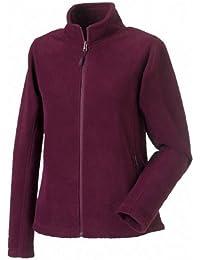 Women's full zip outdoor fleece COLOUR Burgundy SIZE S