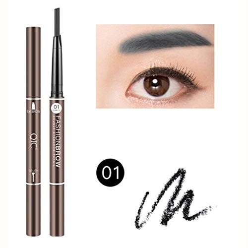 1pc Automatic Long Lasting Cosmetics Natural Waterproof Eyebrow Pencil Eyebrow Pen Make Up Pencil Fork Tip for Women Girl - Mechanical Eye Pencil