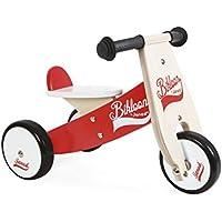 Janod - Bicicleta sin pedales Bikloon, color rojo / blanco (J03261)