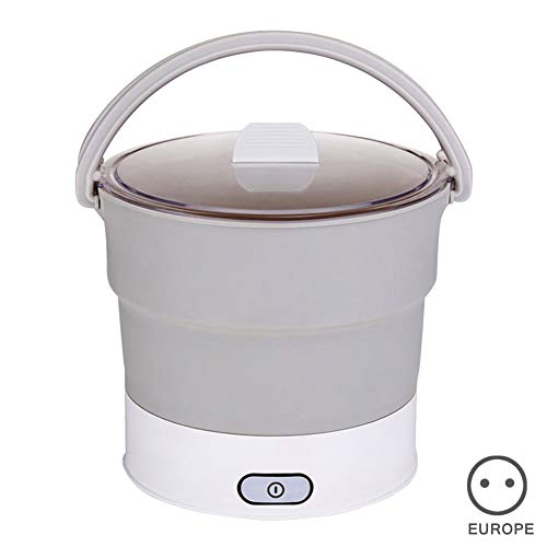 Koisy Folding Hot Pot Electric Skillet Kettle Heated Food Container Travel Cooker Tool